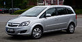 Opel Zafira 1.6 CNG ecoFlex Turbo Design Edition (B, Facelift) – Frontansicht, 9. Juli 2012, Heiligenhaus.jpg