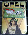 Opel motorwagen, enamel advertising sign.JPG