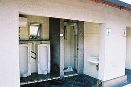 Open Plan Restrooms In An