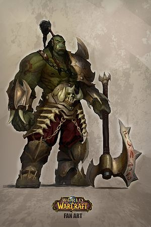 Races and factions of Warcraft - Orc Grunt, fan art by Lucas Salcedo.
