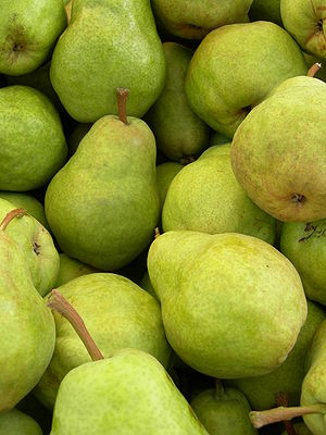 Organic Bartlett pears (Williams Bon Chrétien ...