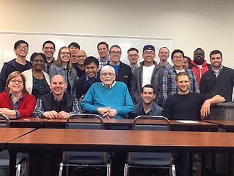 Grant R. Osborne - Osborne with class after delivering final lecture before retiring