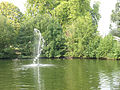 Oscillating fountain in Manor House Park - geograph.org.uk - 1496885.jpg
