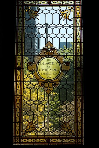 Law Society of Ontario - Osgoode Hall stained glass window