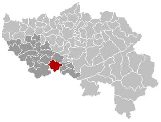 Ouffet - Image: Ouffet Liège Belgium Map