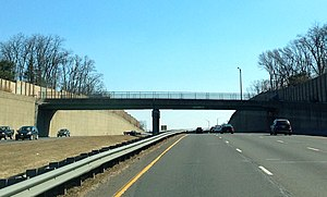 New Jersey Route 24 - Another overpass to nowhere of Route 24 in Summit, closed and walled off on both ends