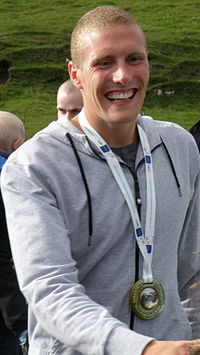 Pál Joensen a Faroese Silver Medal Winner at The European Swimming Championships 2010.jpg