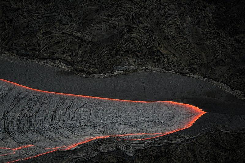 File:Pāhoehoe Lava flow.JPG