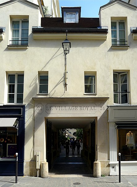 File:P1040306 Paris VIII rue Boissy-d'Anglas n°24 entrée du village royal rwk.JPG