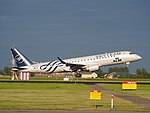 PH-EZX KLM Cityhopper Embraer ERJ-190STD (ERJ-190-100) landing at Schiphol (EHAM-AMS) runway 18R pic3.JPG