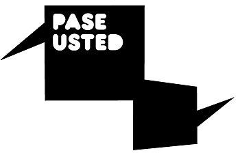 English: logo pase usted Español: logo pase usted