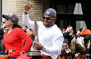 Pablo Sandoval - Sandoval in the 2012 World Series Parade.