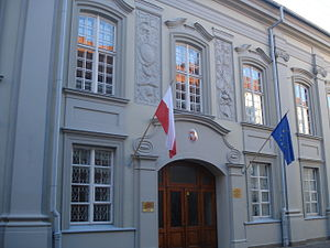 Pac family - Palace of the Pac family in Vilnius, now Polish embassy