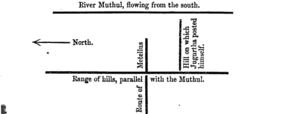 Page 139, Note 1, Dispositions at the Battle of the Muthul.png