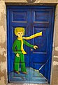 Painted door at Rua de Santa Maria 20 (Funchal) (38097302621).jpg