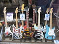 Painted miniature models of guitars - GM Music.jpg