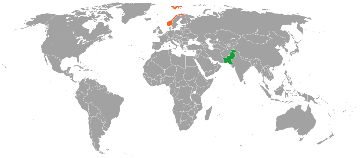NorwayPakistan Relations Wikipedia - Norway map on globe