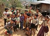 Palaung village children near Kyaukme, Myanmar 1 (2017).jpg