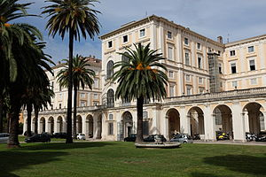Palazzo Corsini, Rome - The rear entrance of the Palazzo Corsini
