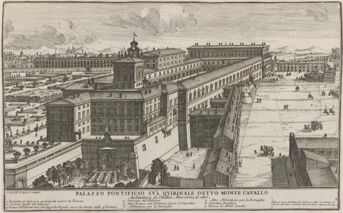 Palazzo Pontificio sul Quirinale detto Monte Cavallo by Alessandro Specchi (1699)