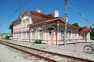 Paldiski - Paldiski railway station in 2011.
