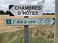 Panneaux Direction Chambres Hôtes Ain Vélo Route St Genis St Cyr Menthon 1.jpg