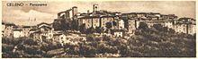 L'antico abitato di Celleno in una antica cartolina