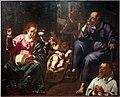Paolo finoglio, sacra famiglia del cucito, con s. giovannino e il donatore, dal seminario di lecce 01.jpg