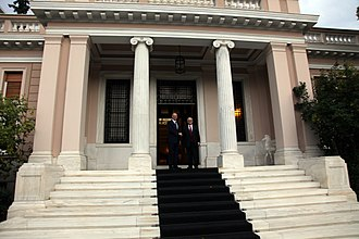 Politics of Greece - Maximos Mansion, the official seat of the Prime Minister of Greece.