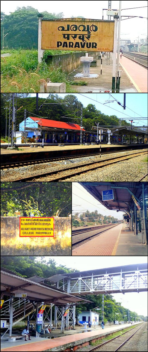 Paravur railway station collage, Nov 2015