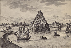 English: Parga in a 19th century gravure Ελλην...