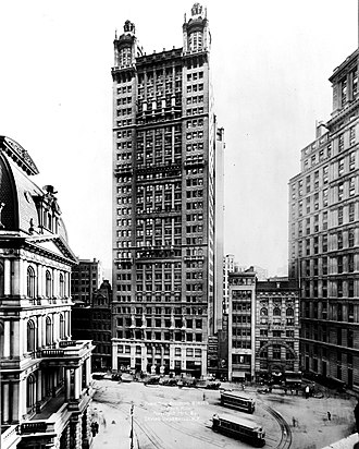 R. H. Robertson - The Park Row Building in New York, designed by Robertson (1899)