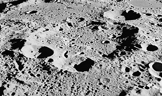 Parkhurst (crater) - Oblique Apollo 15 image, facing south