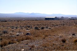 View to the southeast showing Partoun and West Desert High School