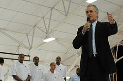 Pat Riley speaks at Eglin Air Force Base.jpg