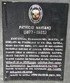 Patricio Mariano historical marker (cropped).JPG