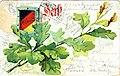 Patriotische Karte Eichenlaub schwarz-rot-gold 1905.jpg