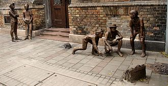 "Ferenc Molnár - ""Paul Street boys"" sculpture in Budapest"