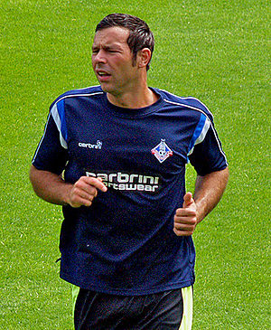 Pawel Abbott - Abbott training with Oldham Athletic in 2009