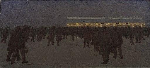 Pay Night, Rosyth- Winter Art.IWMART1355