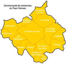 Image illustrative de l'article Communauté de communes du Pays Yonnais