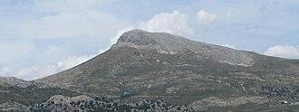 Subbaetic System - Peña de la Cruz, the highest peak in the Sierra Arana