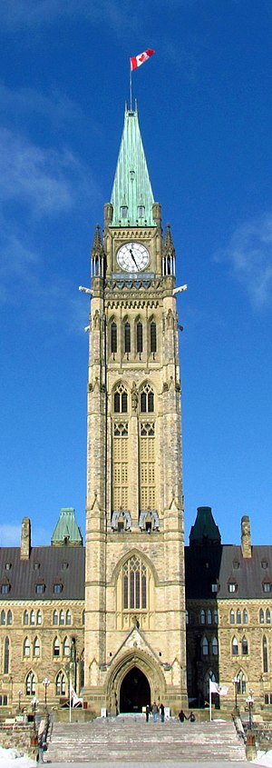 Peace Tower - Main facade in 2012