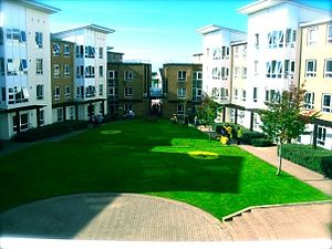 Pendle College, Lancaster - Pendle standard accommodation (a.k.a. 'Pendle Ghetto')
