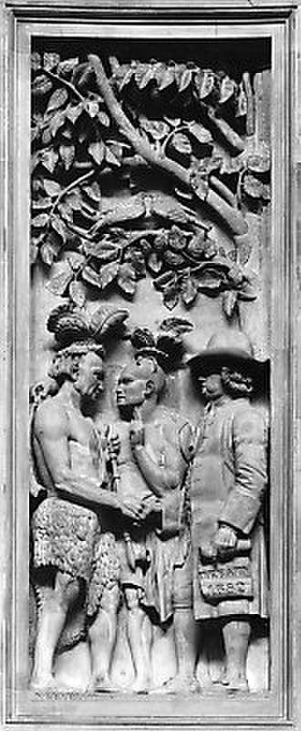History of Philadelphia - Penn's Treaty with the Lenape, from US Capitol Rotunda