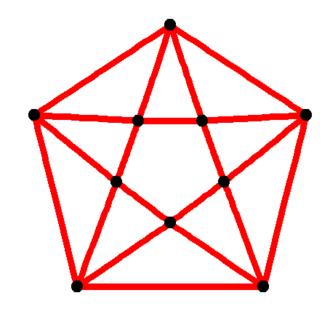 Antiprism - Image: Pentagonal antiprismatic graph