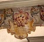 Pescia, palazzo del vicario, interno, sala del consiglio, stemma medici.jpg