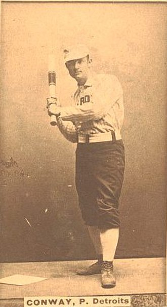 Pete Conway - Pete Conway, 1887 Old Judge baseball card