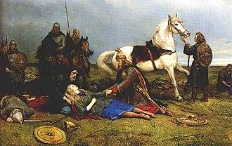 Hervarar saga ok Heiðreks - Hervor's death Peter Nicolai Arbo