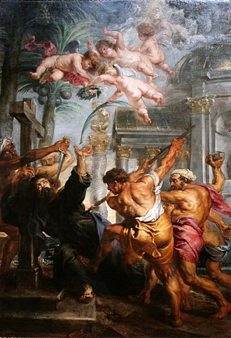Thomas the Apostle - Martyrdom of St. Thomas by Peter Paul Rubens